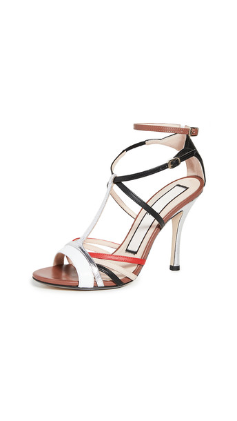 No. 21 Ankle Strap Sandals in bianco