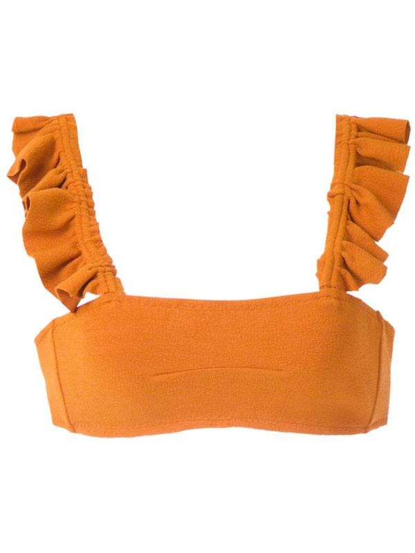 Clube Bossa Zarbo bikini top in orange