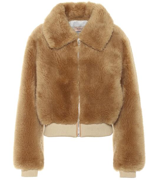 Yves Salomon - Meteo Wool bomber jacket in brown