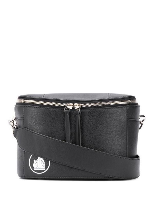 LANVIN logo print cross body bag in black