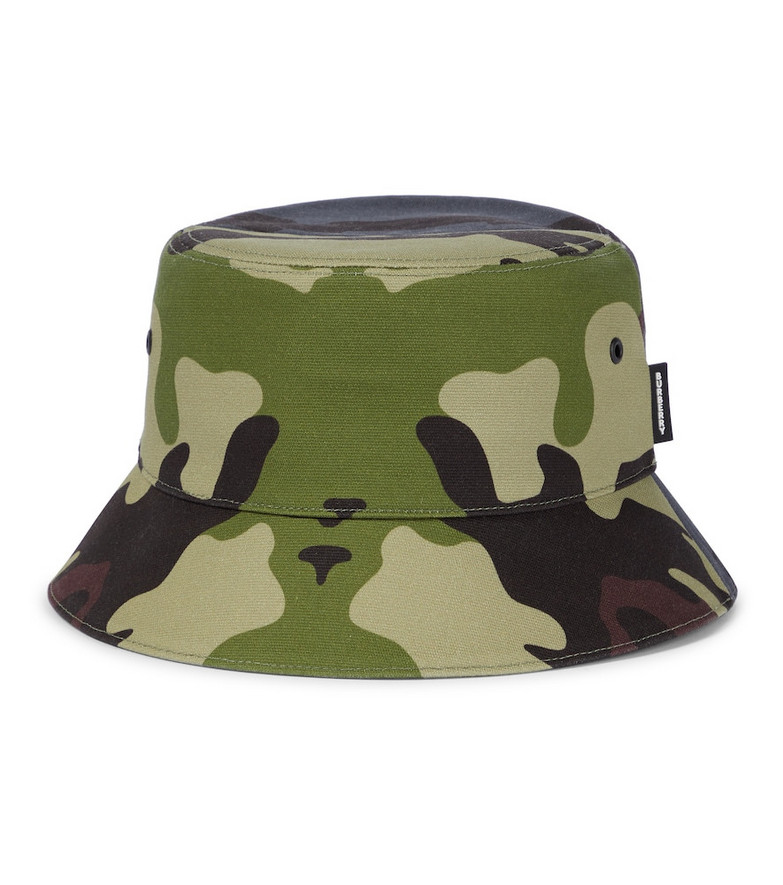 Burberry Camouflage cotton bucket hat in black
