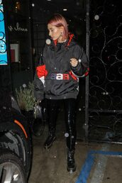 jacket,hailey baldwin,model off-duty