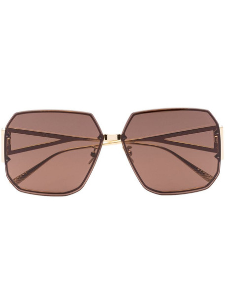 Bottega Veneta Eyewear BV1085SA square-frame sunglasses in brown