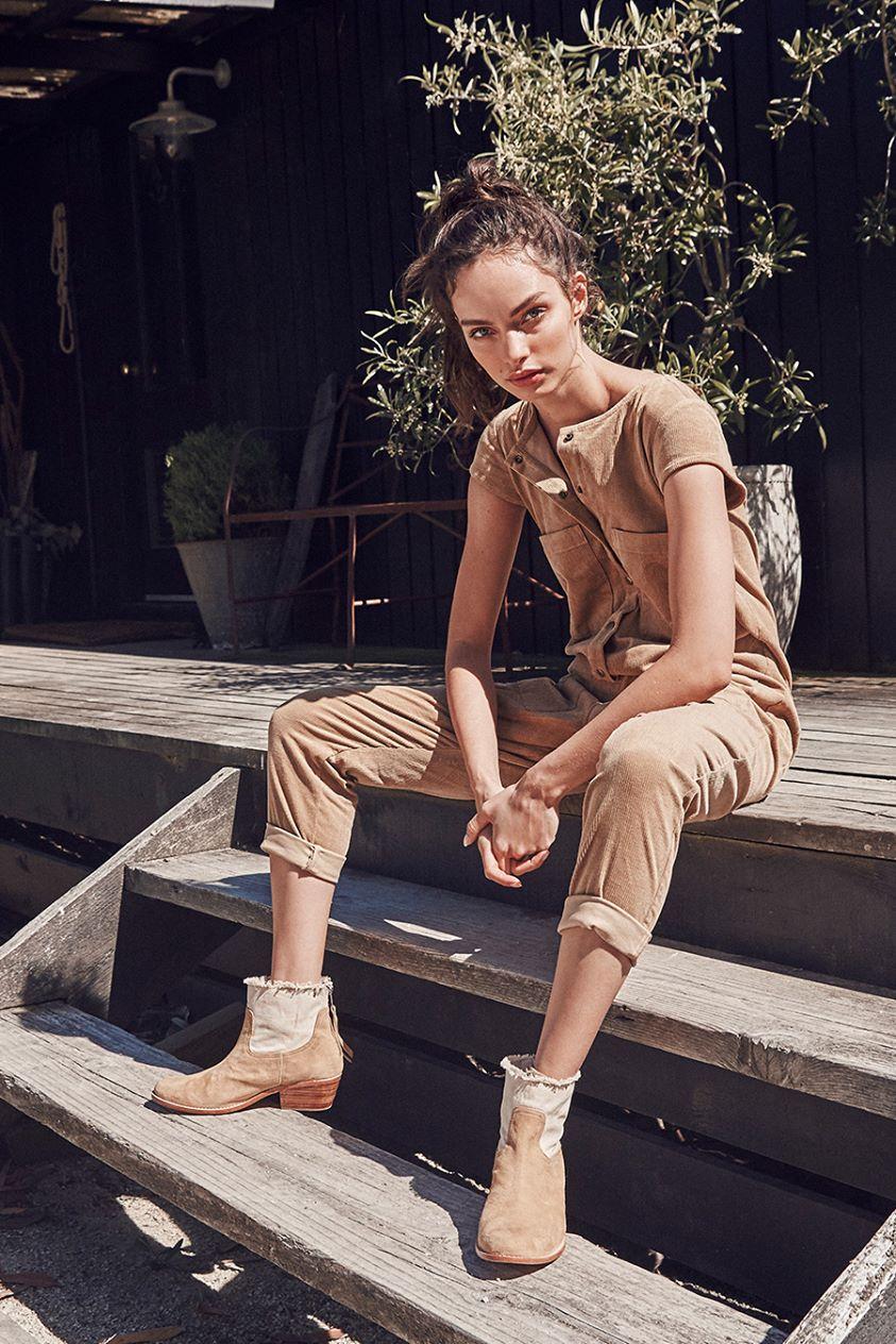 Carmen Suede Boot Wheat