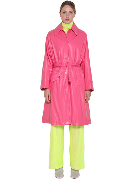 MM6 MAISON MARGIELA Nylon Trench Coat in pink