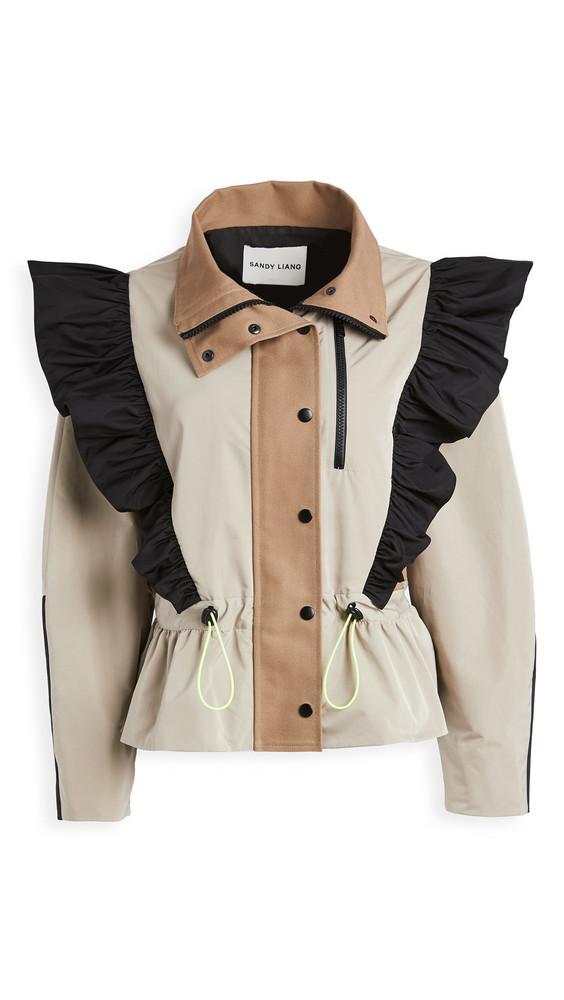 Sandy Liang Pell Jacket in khaki
