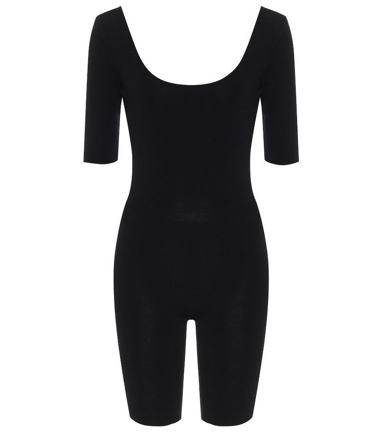 Zeynep Arçay Ribbed playsuit in black