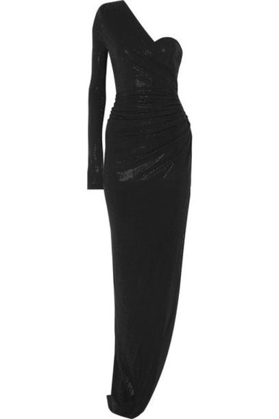Alexandre Vauthier - One-shoulder Crystal-embellished Stretch-jersey Gown - Black