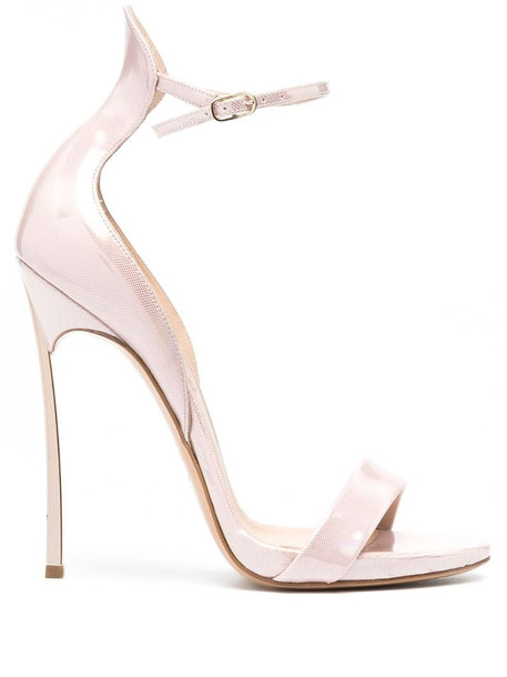 Casadei shiny textured sandals in pink
