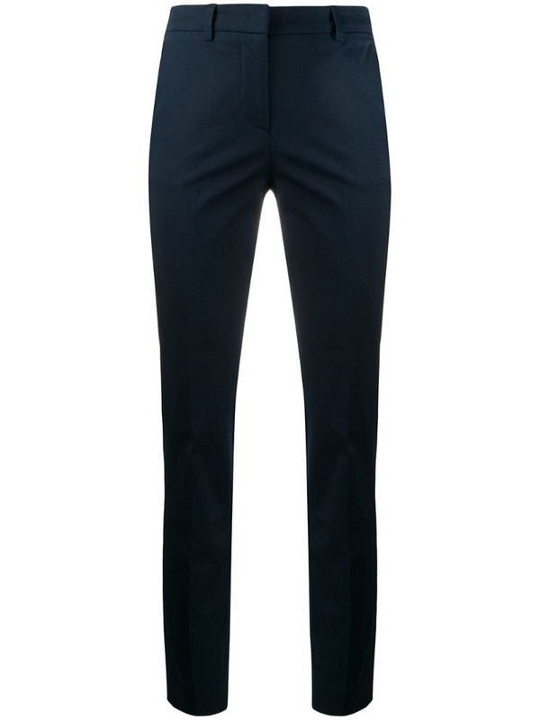 Alberto Biani high waisted slim fit chinos in blue
