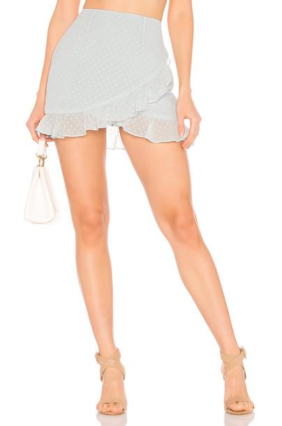 superdown Camille Ruffle Frill Skirt in blue