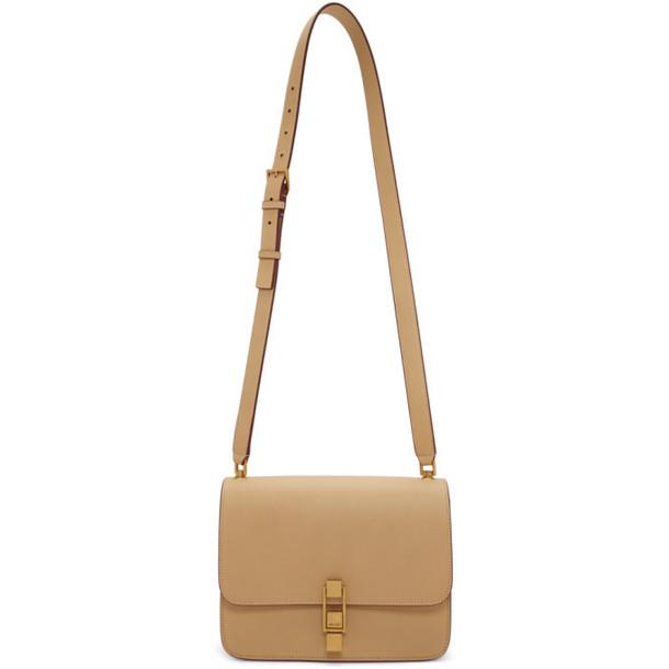 Saint Laurent Beige Carre Satchel Bag