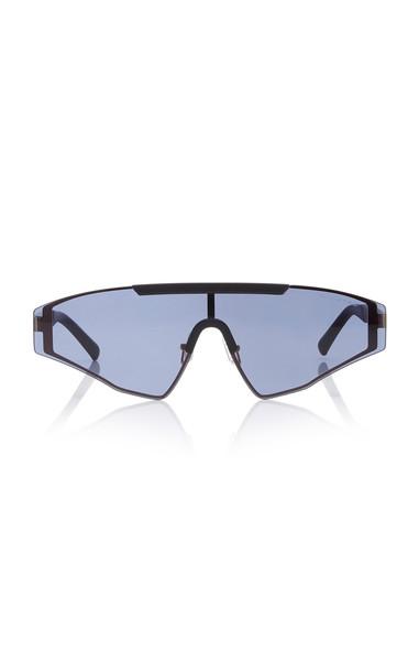 Spektre Vincent Aviator-Style Gunmetal-Tone Sunglasses in black