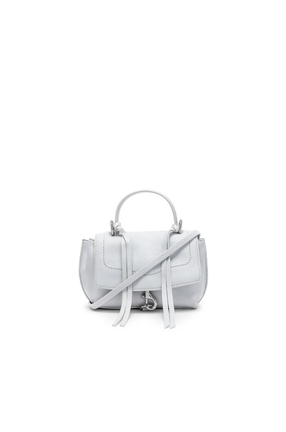 Rebecca Minkoff Stella Mini Flap Satchel in white