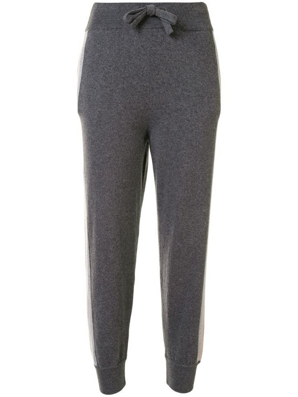 Colombo contrasting stripe track trousers in grey