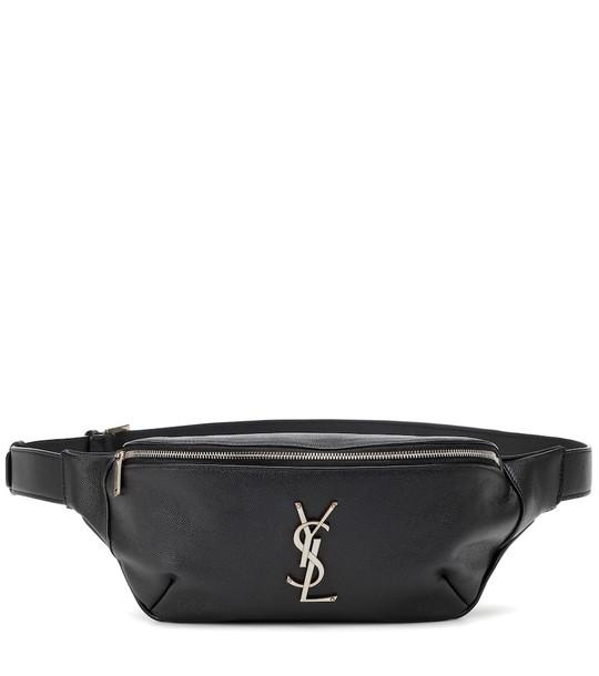 Saint Laurent Classic Monogram leather belt bag in black
