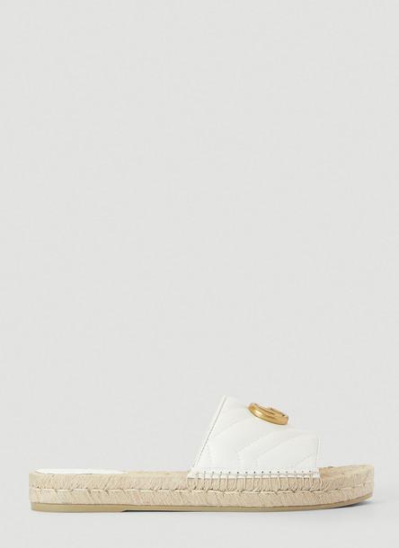 Gucci GG Marmont Espadrille Sandals in White size EU - 39