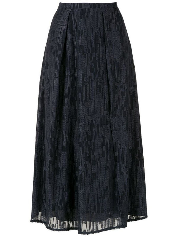 Alcaçuz Francisca pleated skirt in blue
