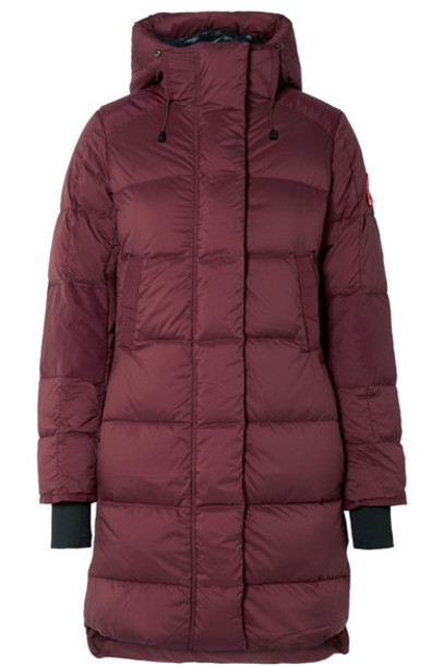 Canada Goose - Alliston Hooded Quilted Shell Down Coat - Plum