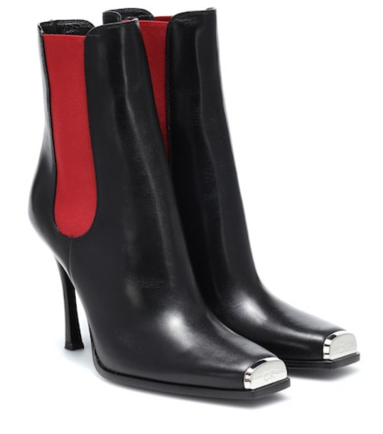 Calvin Klein 205W39NYC Wilamiona leather ankle boots in black