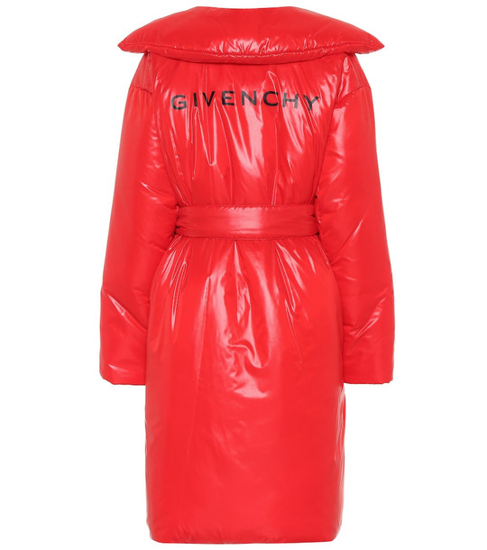 Givenchy Nylon puffer coat in red