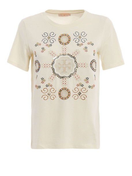 Tory Burch Loto T-shirt in ivory