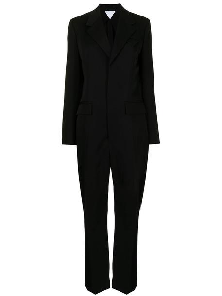 Bottega Veneta tailored single-breasted jumpsuit - 1000BLACK