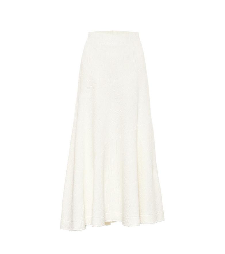 Jil Sander Linen-blend skirt in white