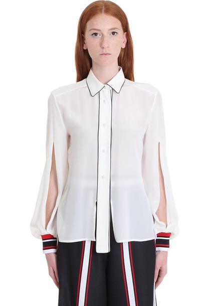 Golden Goose Isako Shirt In White Silk