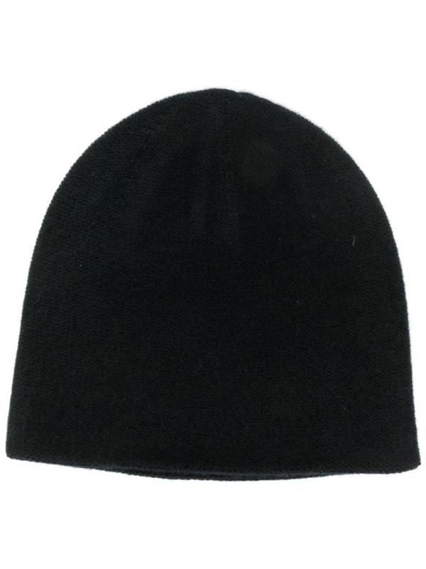 N.Peal double layer beanie in black