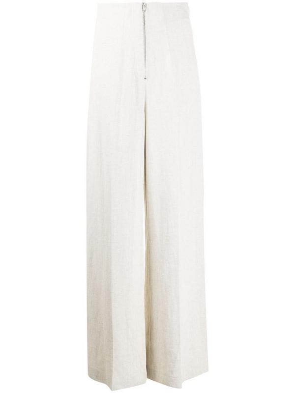 MRZ wide leg trousers in neutrals