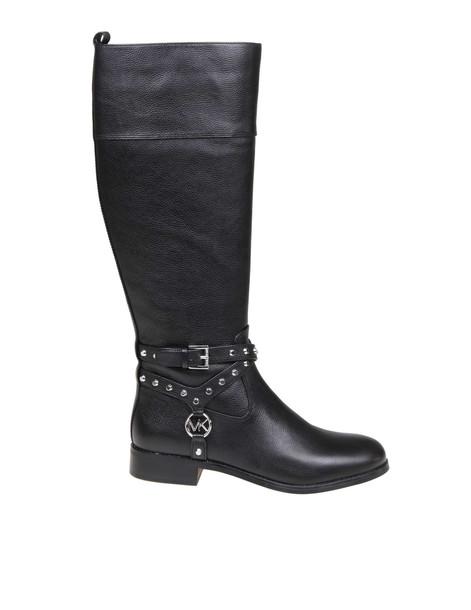 Michael Kors Preston Boot In Black Leather