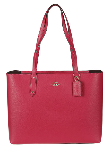 Coach Central Zipped Tote in red