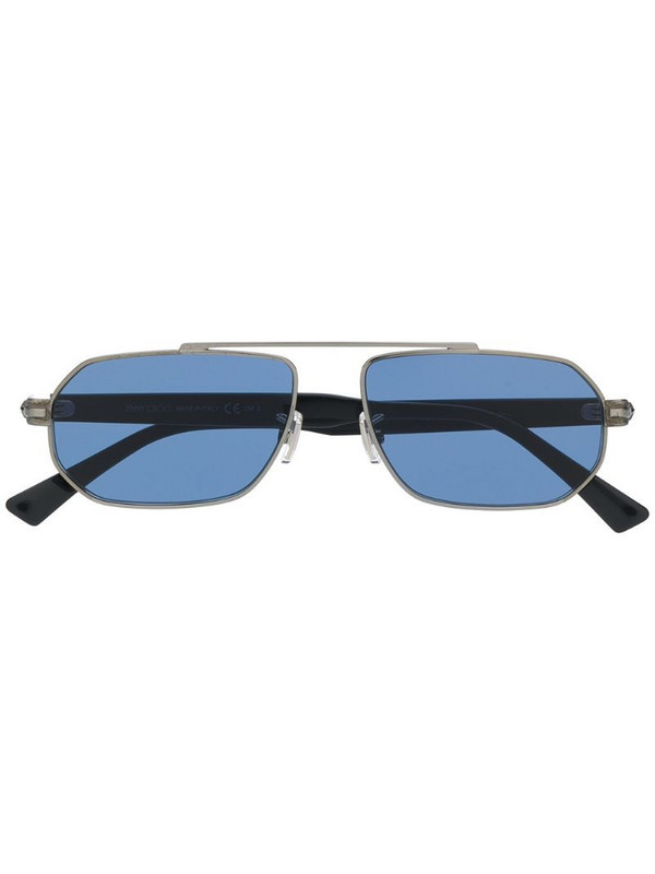 Jimmy Choo Eyewear Viggos hexagonal-frame sunglasses in silver