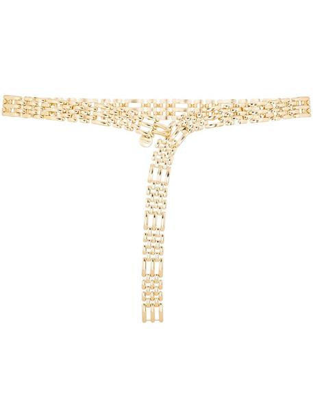 Black & Brown Katerina chain belt - Gold