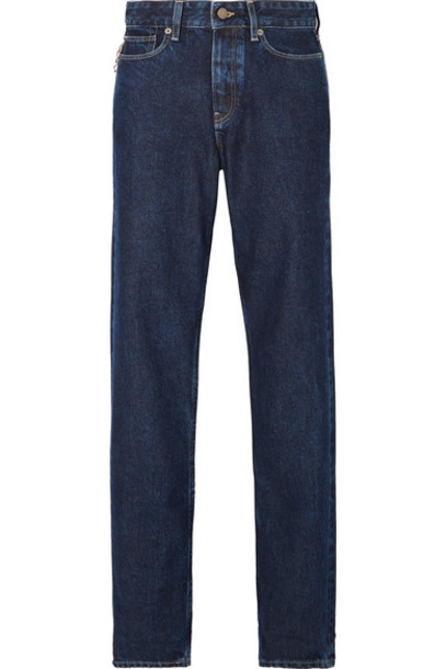King & Tuckfield - Briony High-rise Straight-leg Jeans - Dark denim