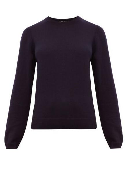 A.P.C. A.p.c. - Savannah Merino Wool Sweater - Womens - Navy