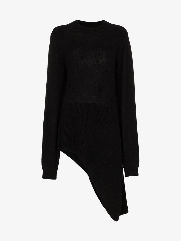 Khaite Esme cashmere side tie sweater in black