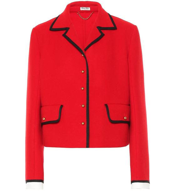 Miu Miu Wool jacket in red