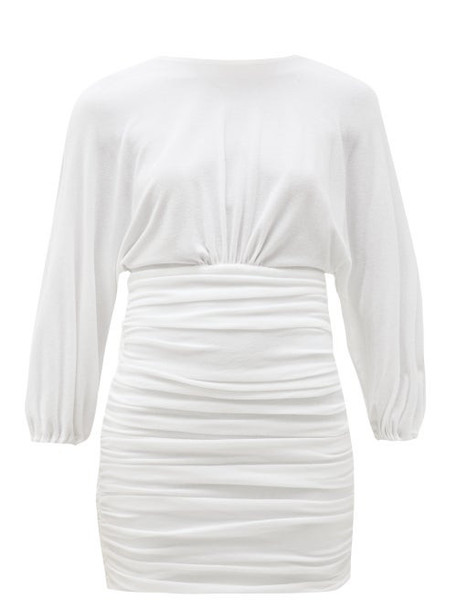 Alexandre Vauthier - Ruched Terry Mini Dress - Womens - White