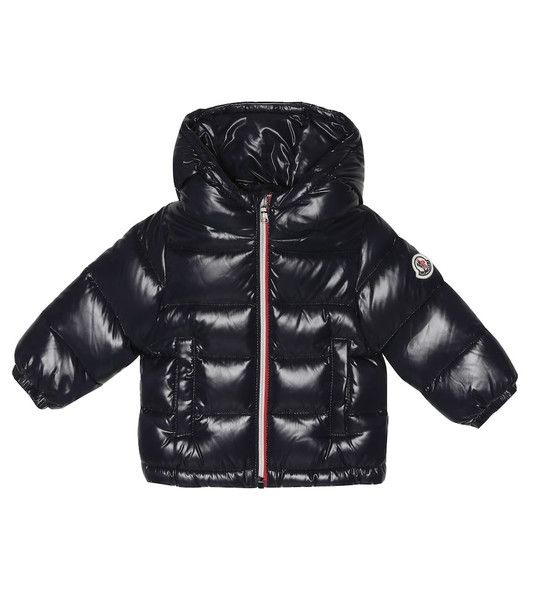 Moncler Enfant Baby New Aubert quilted down coat in blue