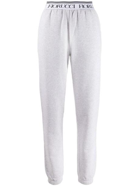 Fiorucci logo track trousers in grey