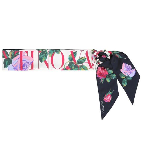 Valentino Printed silk-faille scarf
