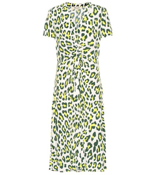 Diane von Furstenberg Cecilia leopard-print midi dress in white