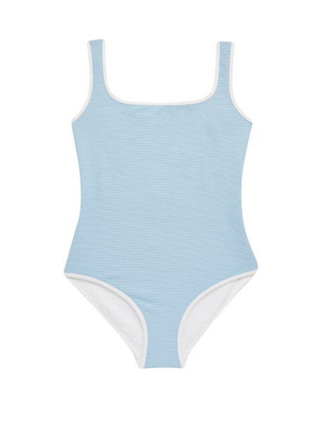 Cossie + Co Cossie + Co - The Poppy Reversible Square-neck Swimsuit - Womens - Blue White