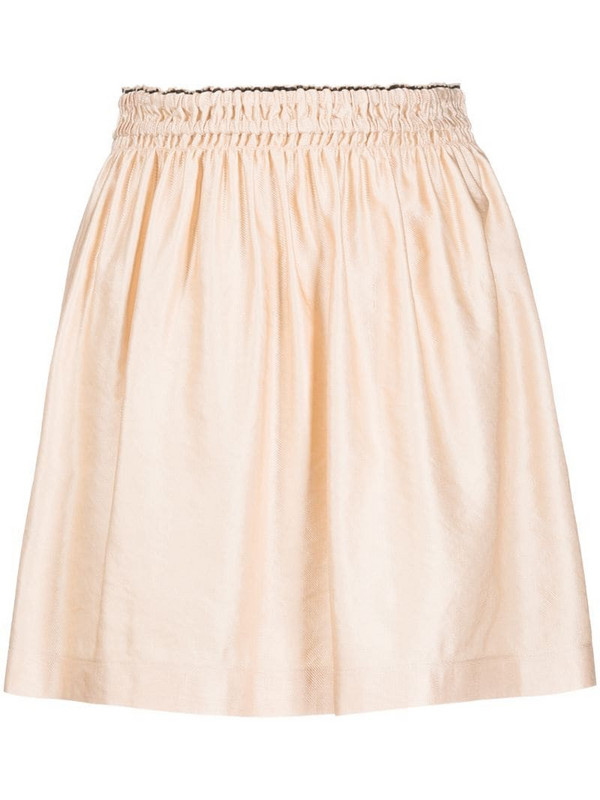 Forte Forte A-line mini skirt in neutrals