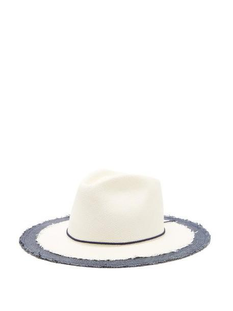 House Of Lafayette - Jimmy Straw Panama Hat - Womens - Navy