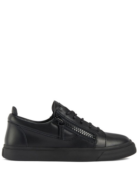 Giuseppe Zanotti side zip sneakers in black