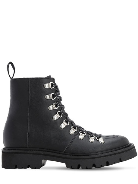 GRENSON 35mm Nanette Faux Leather Hiking Boots in black