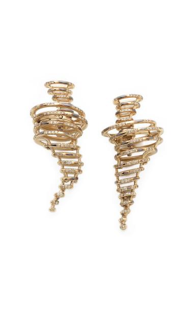 Bibi van der Velden Tornado Earrings in gold